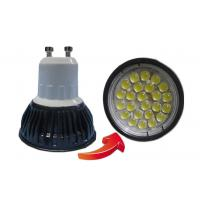 China 450lm 24pcs SMD 5050 LED Spotlight Bulbs / 4 W GU10 Led Spot Light Bulbs in Cold White on sale