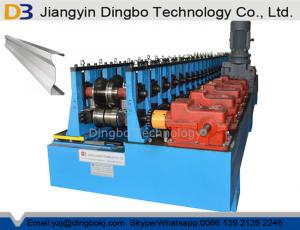 China Customized M Profile Sigma Shape Metal Roll Forming Machine With Gearbox Transmission on sale