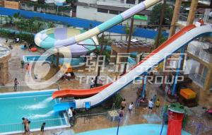 China Theme Park Fiberglass Water Slides , Plastic Custom Combined Water raft Slides for Water Park on sale
