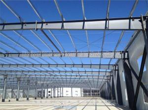 China Sandwich Panel Prefab Workshop Steel Structure With USA Standard Welding on sale