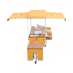 China 2500MM Breakfast Wear Resistance Burger Food Cart on sale