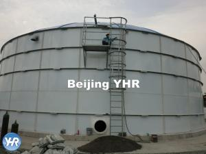 China Round Cylindrical Shell Bolted Steel Tanks , Steel Water Storage Tanks on sale