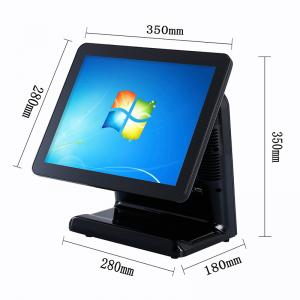 China Free Bezel Capacitive Touch Screen Pos System Windows 10 Vtop Black Point Of Sale Devices on sale