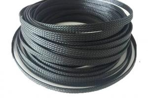 wiring harness protection fire retardant expandable cable sleeve black color for wire  fire retardant expandable cable sleeve