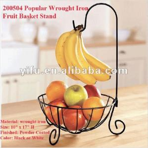 200504 Por Wrought Iron Fruit Basket Stand