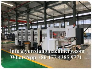 China YUNXIANG Group High Speed Lead Edge Flexo Printer Slotter Die Cutter  Machine on sale