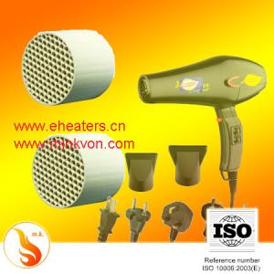 China Far Infrared ceramic cellular  Heating Element  ( honeycomb ptc heaters basis) for Hair Dryer on sale