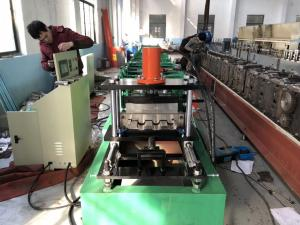 China SGS Painted Steel 7.5Kw Standing Seam Roof Panel Roll Forming Machine on sale