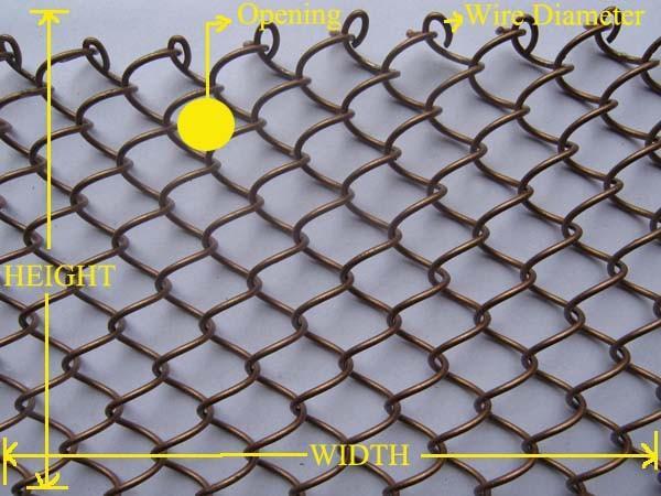 Powder Coated Fire Screens Metal Coil Drapery Metal Curtain