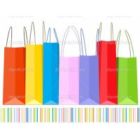 China fashion popular cartoon red plastic shopping bag on sale