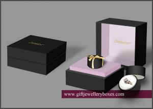 Quality Foil Stamping Or Flocking Engagement Ring Bo Luxury Wedding Box For