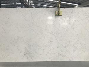 Quality Marble Like Solid Quartz Countertops Vein Designs Man Made Stone For