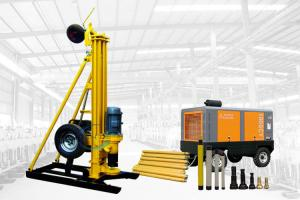 China Portable Pneumatic DTH Water Drilling Rig AKL -150D One Year Warranty on sale