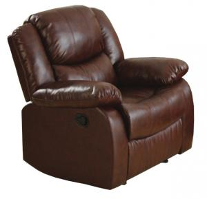 China Comfortable & Relax Brown Leather Chairs,Recliner sofa chairs. on sale