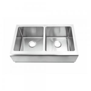 China Commercial 16 Gauge Stainless Steel Sink With Apron 32-7/8 Lx20Wx10 H on sale