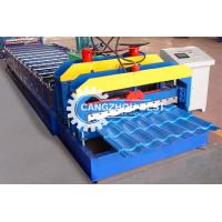 China Building Material Glazed Tile Roll Forming Machine Single Sink Zinc Sheet Metal on sale