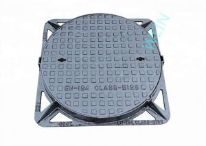 China Round Double Sealed Internal Inspection Chamber Cover Ductile Iron EN124 on sale