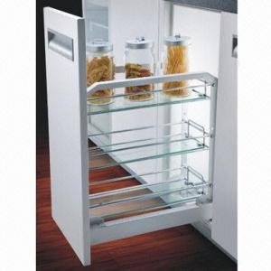Kitchen Cabinet Organizer Aluminum Frame Storage Base Wire Baskets Soft Closing
