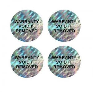 China 3D Self-VOiding Tamper Resistant Hologram Warranty Labels with Consecutive Barcodes Stickers on sale