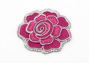 China Clothing Appliques Flower Embroidery Patches Peony Pattern Exquisite Elegant on sale