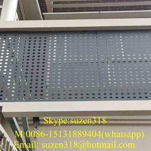 China decoration colored wall paneling  perforated stainless steel sheet on sale