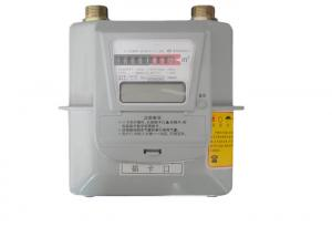 China Metal Type Prepaid Gas Meter Diaphragm Smart IC Card For Domestic G1.6 on sale