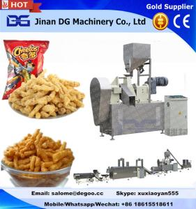China Automatic corn grits cheetos/kurkure/nik naks/corn curls extruder making machine manufacturer production plant on sale