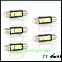 China 39mm 3SMD 5050 Pure White Canbus Error Festoon Car LED Dome Light Bulb on sale