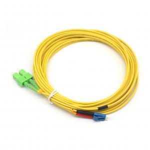 1M SC-LC Duplex 9//125 Singlemode Fiber Optic Patch Cable Cord Jumper Yellow New