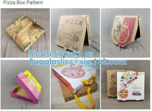 China Food Grade Flute Corrugated Custom Printed Size Caja Para Pizza Design Cardboard Carton Pizza Box on sale