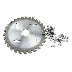 China Cutting Non Ferrous Metal Saw Blade Tips Tungsten Carbide Wear Parts ISO Standard on sale