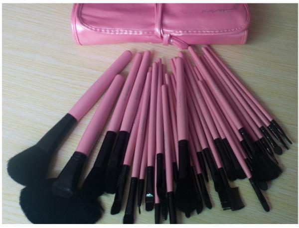 Quality Mac Makeup Brush Set 32 Pcs Pink For Womens Beauty Images