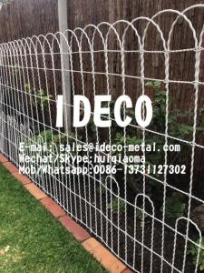 Ornamental Double Loop Wire Woven Fence