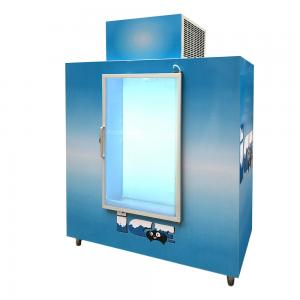 China Glass Door Indoor Ice freezer , Auto Defrost Commercial Ice Bagged Stroage Room on sale