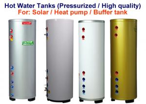 China 100 - 500 L Small Hot Water Storage Tank White / Silver / Golden Color on sale