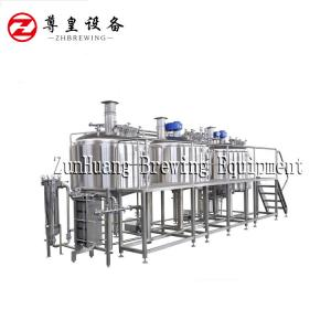 China Hot Water Tank 3 Vessel Brewing System , Brewpubs Craft Brewing Equipment on sale