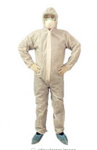 China White Disposable Protective Suit Acid Resistant Safety Protective Clothing on sale