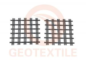 China Warp Knitted Polyester Geogrid For Soil Reinforcement High Strength 3.95m Width on sale