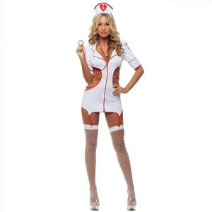 China Average size White Spandex Adult Erotic Costumes Role Play Errotic Underwear on sale