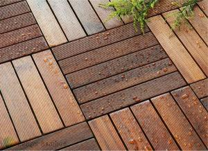 China outdoor bamboo decking flooring tiles 300x300x23 on sale