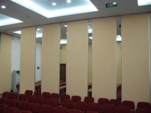 China Good Sound Insulation Office Sliding Partition Walls , Aluminium Frame Movable Room Dividers on sale