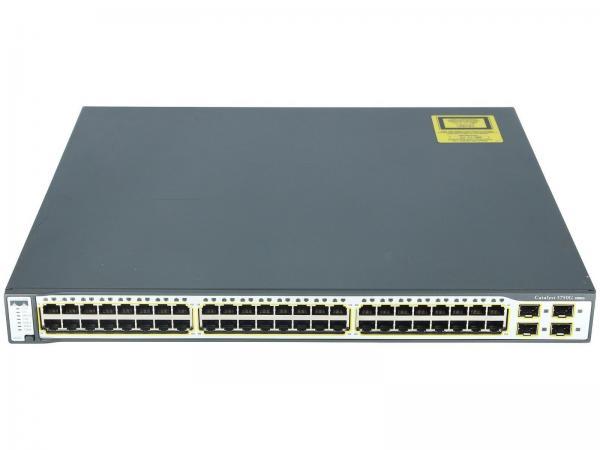 PoE 4x SFP Ports Std Image Cisco WS-C3750G-48PS-S w// 48x 10//100//1000 Ports