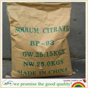 China sodium citrate preservative food grade 68-04-2 factory price on sale