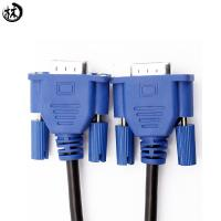 China 3+6 Male To Male VGA Monitor Cable Ferrite Cores Gold Plated Connectors on sale