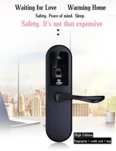 Electronic Smart Door Lock 304 Stainless Steel Card Unlock Password Unlock Optical Fingerprint Unlock B Class Blade Key Lock Silver