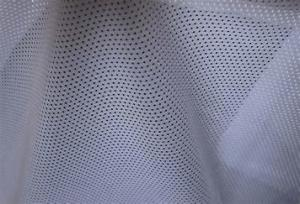 China Warp Knitted Monofilament Polyester Netting Fabric Flame Retardant on sale