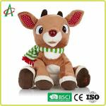 Reindeer Musical Stuffed Animals For Infants 8.5 Inches