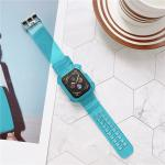Suitable for Apple watchband apple watch new silicone watchband transparent integrated TPU with protective shell wristba