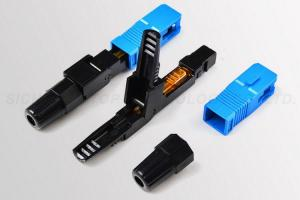 China SC Fast Connector 50MM FTTH Afl Quick Connectors Insertion Loss < 0.3 dB on sale