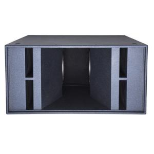 China High Performance Neodymium Subs Double 18 inch 2500W Subwoofer Box For Sale on sale